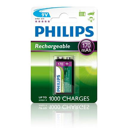 Baterie Philips MultiLife 9V 170mAh, 1ks (blistr)