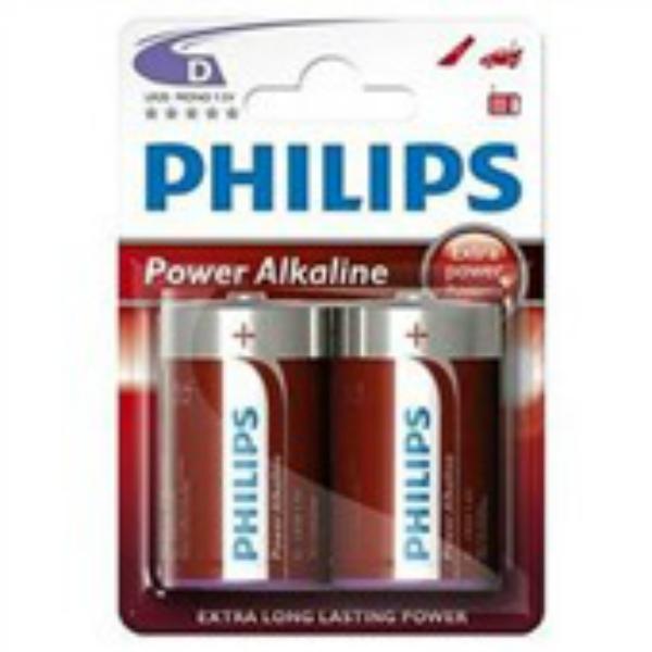 Baterie LR20/D PHILIPS PowerLife, 2 ks (blistr)