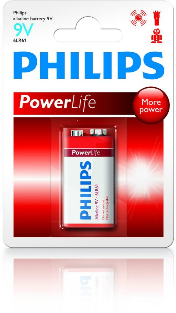 Baterie 9V Philips Power Life, 1ks (blistr)