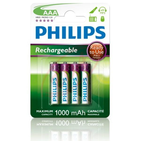 Baterie AAA 950mAh Philips RTU 4 ks (blistr)