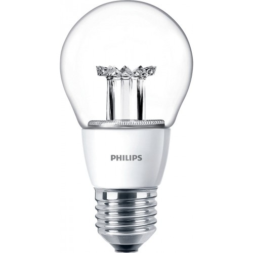 LED žárovka 6W (40W) E27 PHILIPS, čirá, teplá bílá
