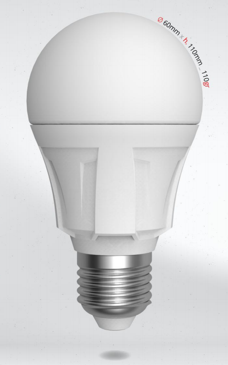 LED žárovka 8W (60W) E27 SKYLIGHTING, denní bílá