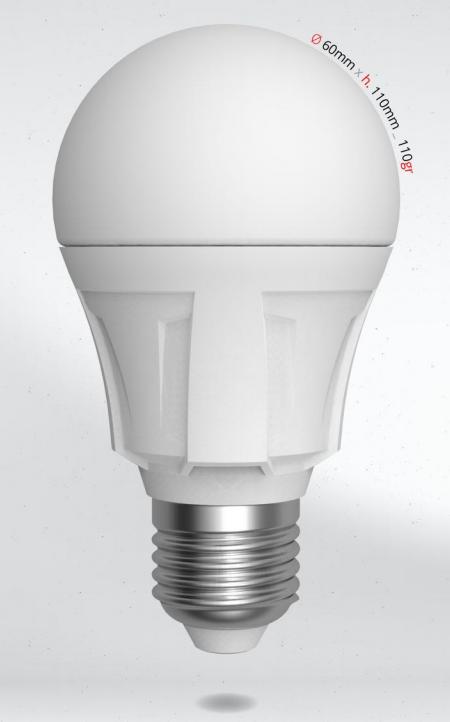 LED žárovka 8W (60W) E27 SKYLIGHTING, teplá bílá