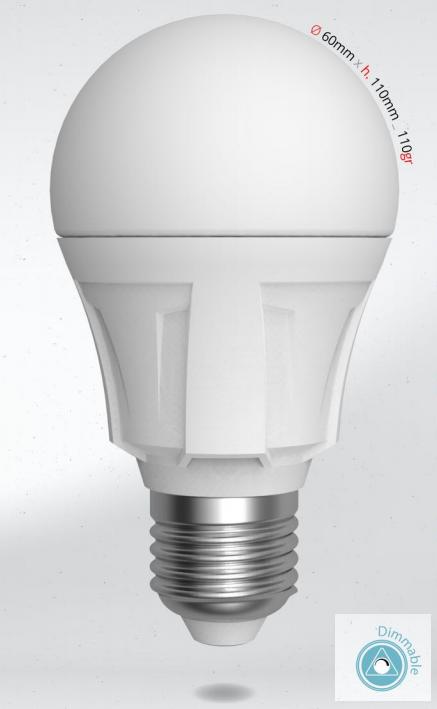 LED žárovka 12W (90W) E27 SKYLIGHTING, denní bílá, stmívatelná