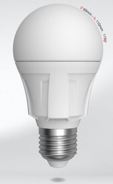 LED žárovka 12W (90W) E27 SKYLIGHTING, studená bílá