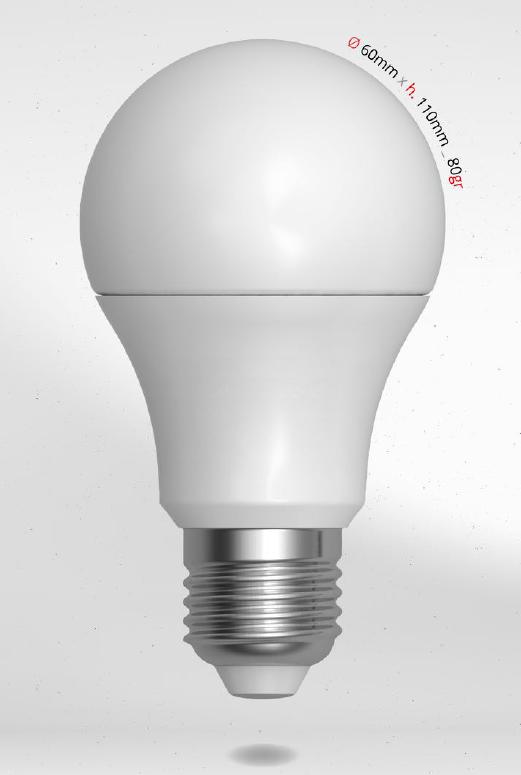 LED žárovka 10W (70W) E27 SKYLIGHTING, teplá bílá
