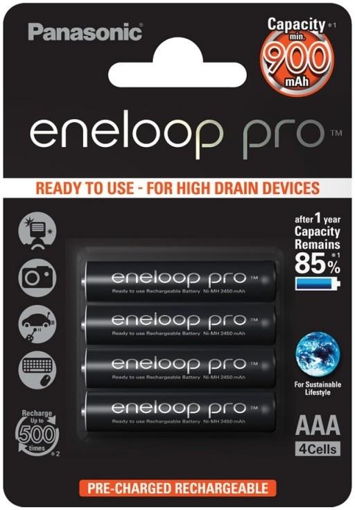 Baterie AAA/HR03 930mAh Panasonic ENELOOP PRO, 4 ks (blistr)