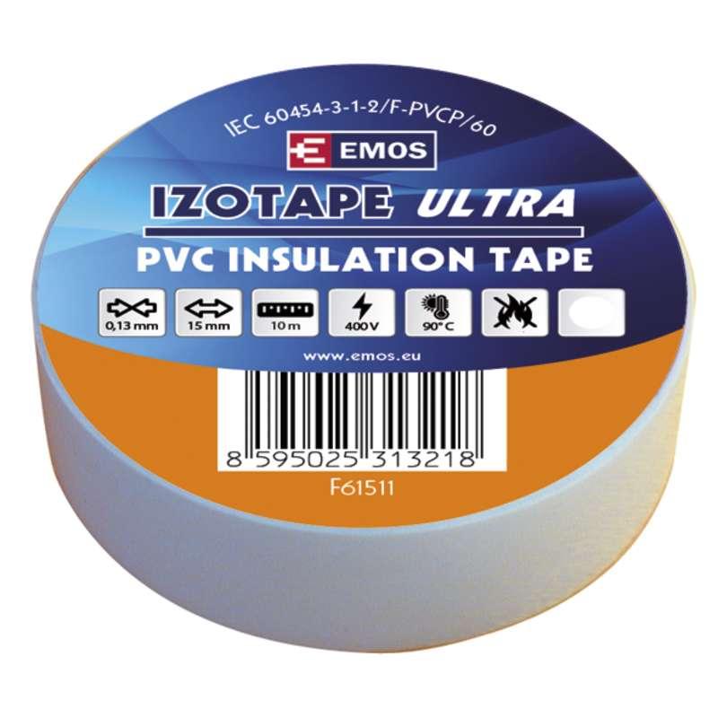 Izolační páska PVC 15mm/10m bílá