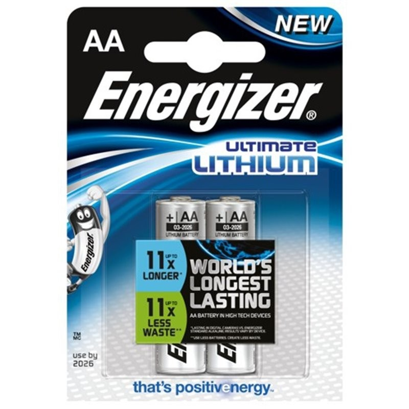 Baterie AA/FR6 ENERGIZER Ultimate LITHIUM L91, 2 ks (blistr)