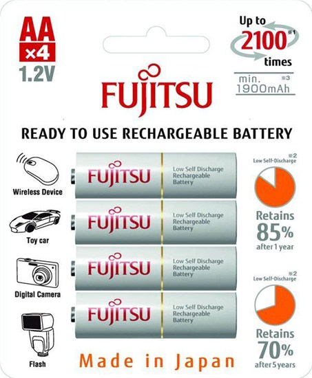 Baterie AA/HR6 1900mAh FUJITSU WHITE, 4 ks (blistr)