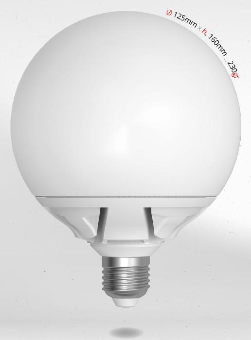 LED GLOBE 20W E27 G125 SKYLIGHTING, teplá bílá