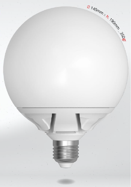 LED GLOBE 25W E27 G145 SKYLIGHTING, denní bílá