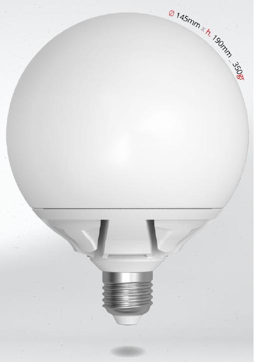 LED GLOBE 25W E27 G145 SKYLIGHTING, studená bílá