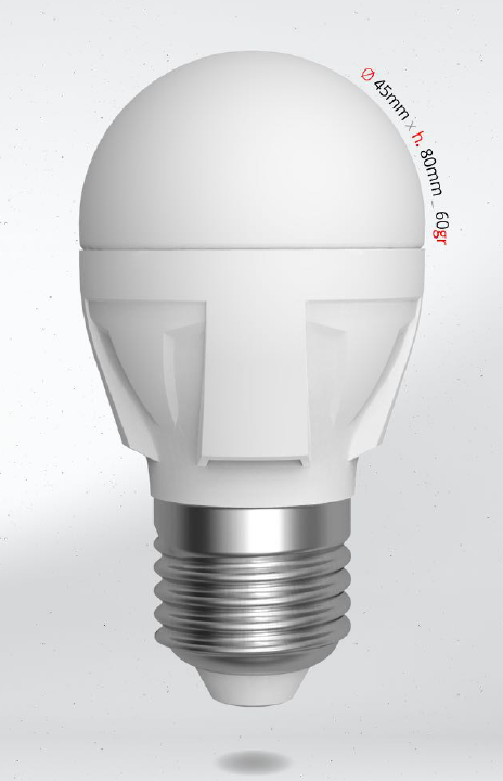 LED mini globe 6W (48W) E27, SKYLIGHTING, studená bílá