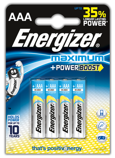 Baterie AAA/LR03 ENERGIZER Maximum, 4 ks (blistr)