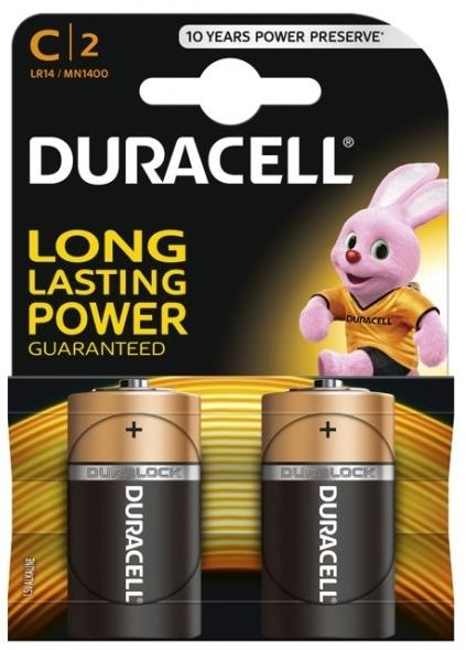 Baterie Duracell Plus C 2 ks (blistr)