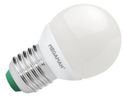 LED mini globe 3,5W (25W) E27, MEGAMAN, teplá bílá