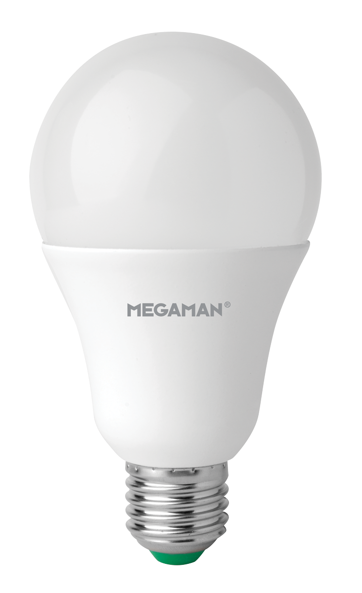 LED žárovka 14W (100W) E27 MEGAMAN, teplá bílá