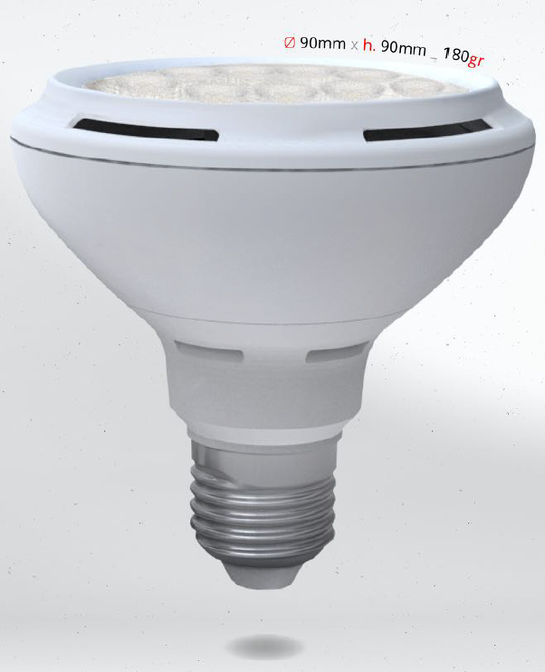 LED PAR30 12W E27, SKYLIGHTING, denní bílá