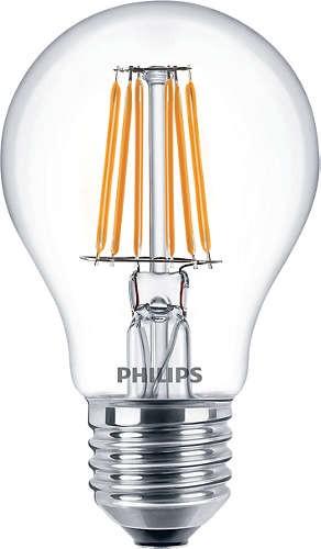 LED žárovka 6W (60W) E27 PHILIPS, čirá, teplá bílá