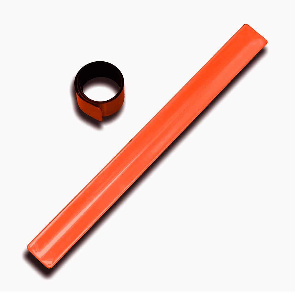 Reflexní bezpečnostní páska, samonavíjecí, oranžová