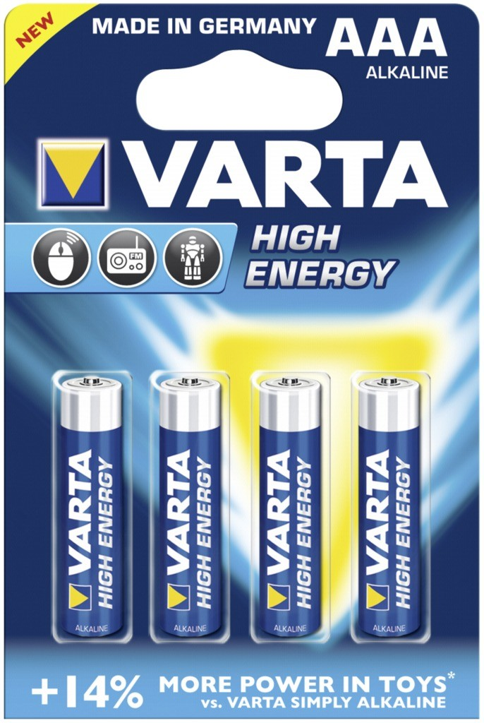 Baterie AAA/LR03 VARTA High Energy, 4 ks (blistr)