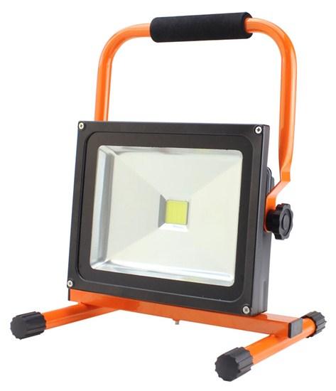 Solight LED venkovní reflektor se stojanem, 30W, 2400lm, kabel se zástrčkou, AC 230V