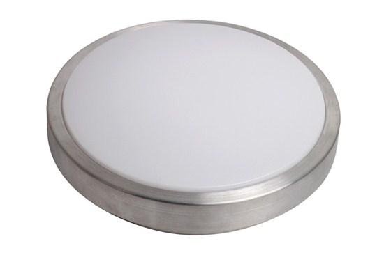 Solight LED stříbrné stropní světlo, 12W, 840lm, 3000K, 27cm