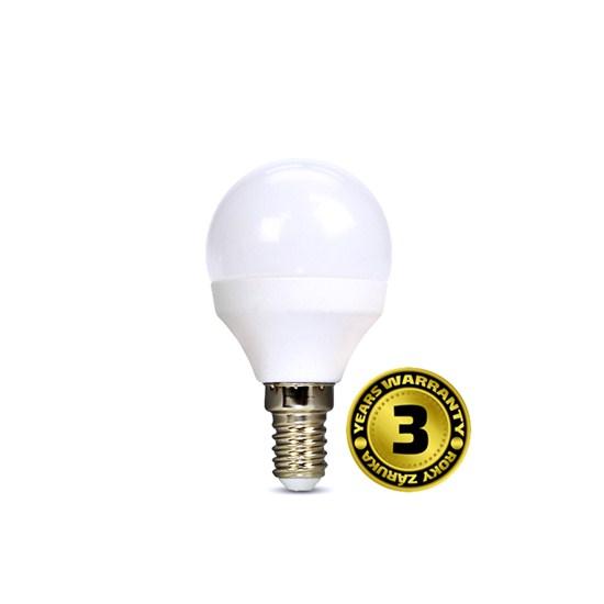Solight LED žárovka, miniglobe, 4W, E14, 3000K, 310lm, bílé provedení
