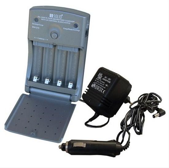 Nabíječka SOLIGHT multifunkční AA/AAA, AC 230V/DC 12V, max. 600mA