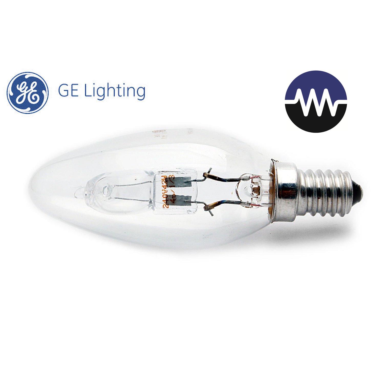 Halogenová žárovka 30W (40W) E14, GE lighting ECO, svíčková