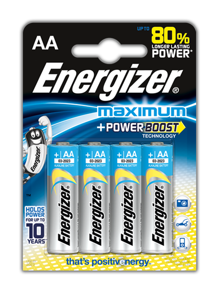 Baterie AA/LR6 ENERGIZER Maximum, 4 ks (blistr)