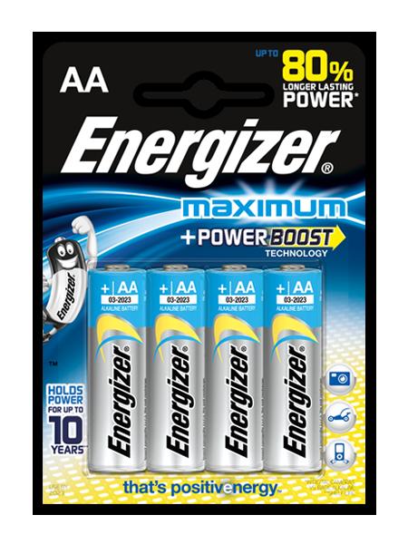 Baterie Energizer Maximum AA LR6 4 ks (blistr)