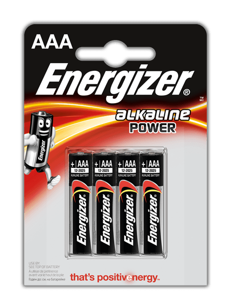 Baterie AAA/LR03 ENERGIZER POWER, 4 ks (blistr)