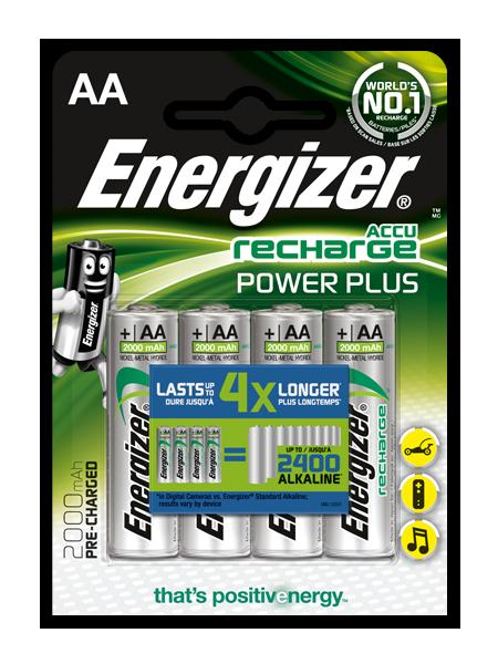 Baterie AA 2000mAh ENERGIZER POWER PLUS, 4 ks (blistr)