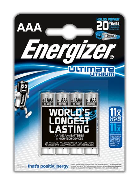 Baterie Energizer Ultimate LITHIUM FR03 AAA 4 ks