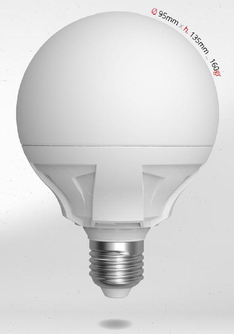 LED GLOBE 15W E27 G95 SKYLIGHTING, denní bílá