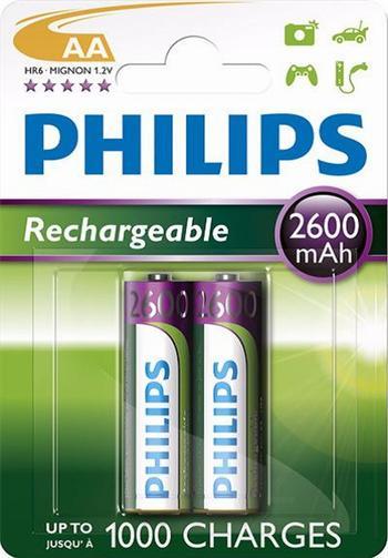 Baterie AA 2600mAh PHILIPS, 2 ks (blistr)