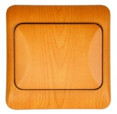 Spínač LYRA jednopólový, řazení 1, světlé dřevo