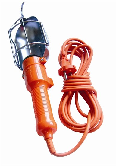 Solight montážní lampa, E27, AC 230V, 5m, oranžová s mřížkou