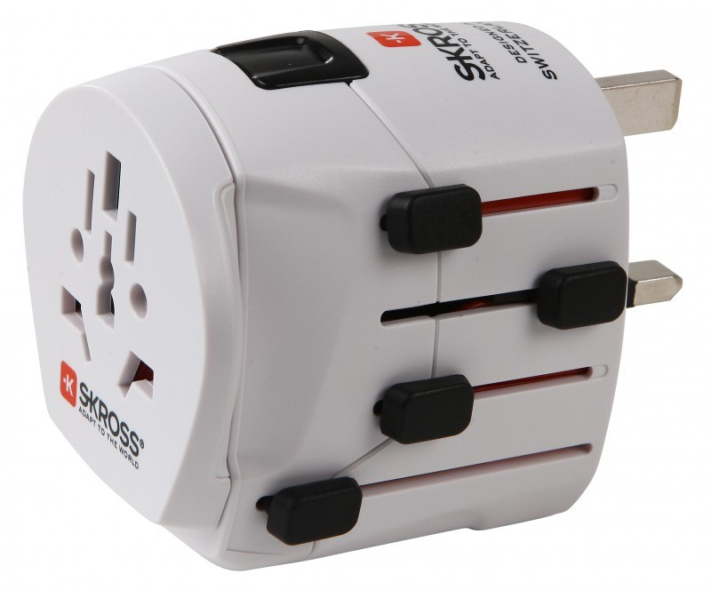 SKROSS cestovní adaptér PRO World, 6.3A max., uzemněný, vč. adaptéru pro ostatní vidlice, univerzální pro celý svět