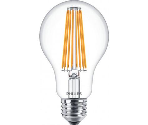LED žárovka 11W (100W) E27 PHILIPS Filament, čirá, 2700K