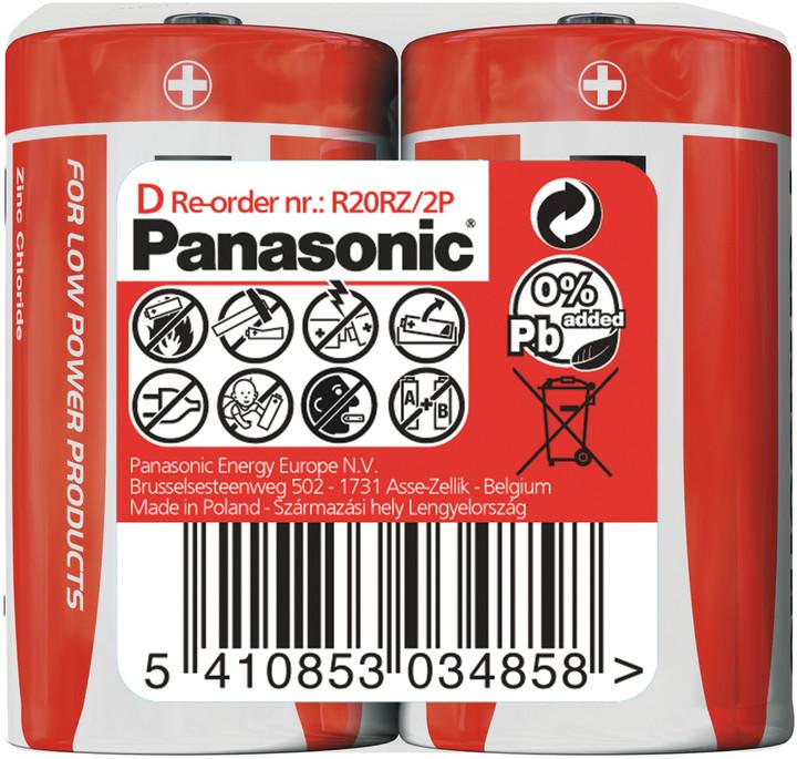 Baterie R20/D Panasonic, 2 ks (shrink)