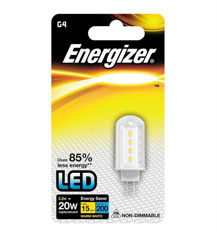 LED G4 2,2W, ENERGIZER, teplá bílá