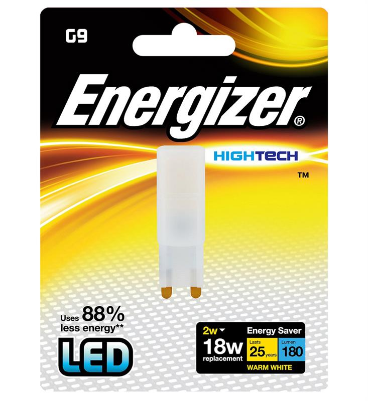LED G9 2W, ENERGIZER, teplá bílá