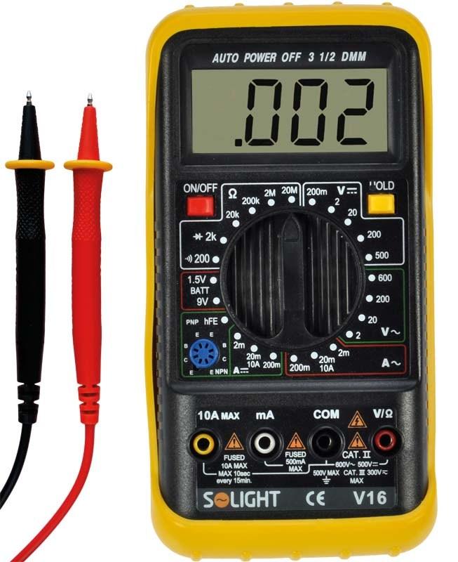 Solight multimetr, test diody, test baterie, ochrana proti přetížení, bzučák