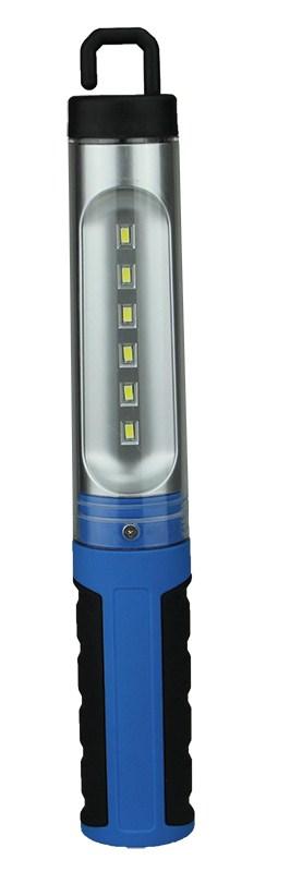 Solight montážní LED lampa, 300lm, nabíjecí, Li-Ion 1500mAh, černomodrá