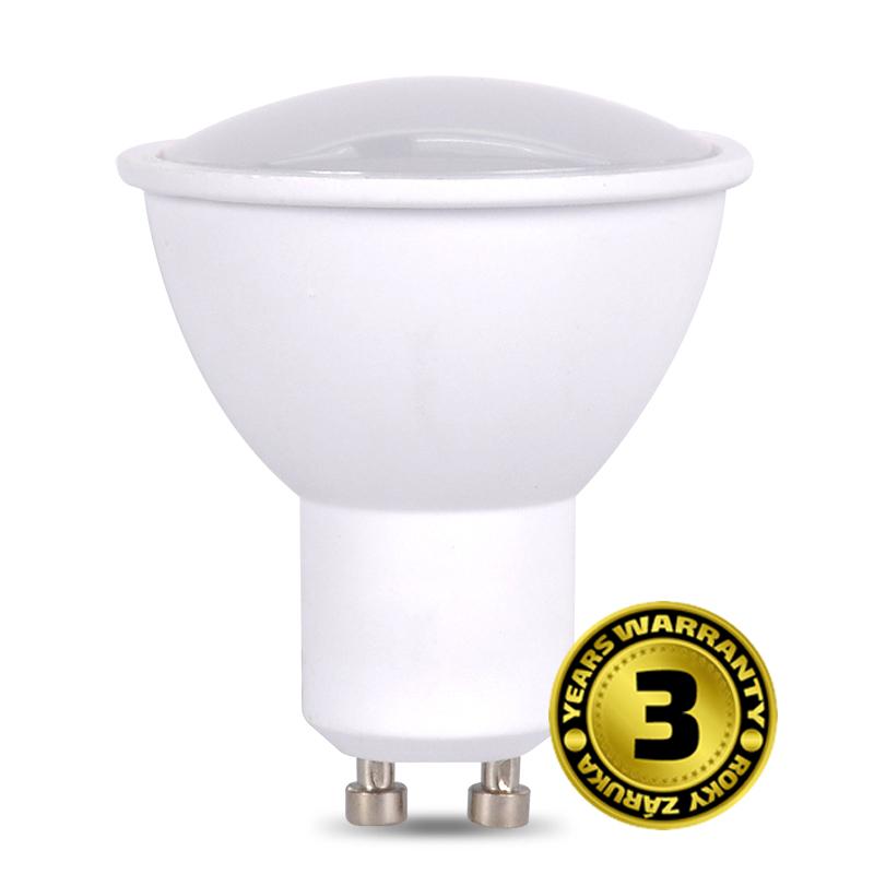 LED GU10 7W (50W), SOLIGHT, teplá bílá