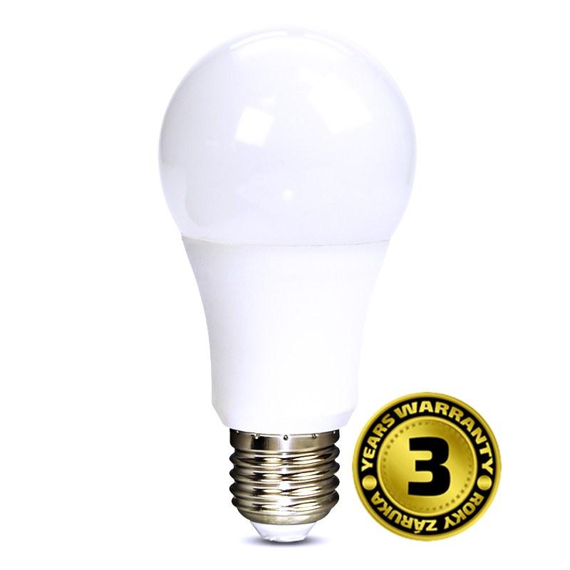 LED žárovka 10W (60W) E27 SOLIGHT, teplá bílá, žárovka se stmívačem